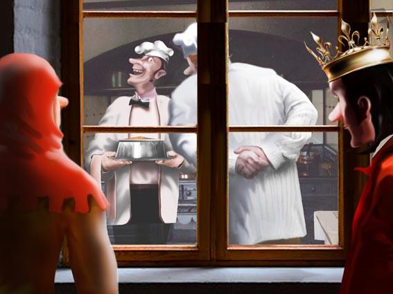 Запись 724. Устал казнить работников столичных рестораций. Чем шире в королевстве дифференциация зарплат, тем чаще они плюют клиентам в жульен.