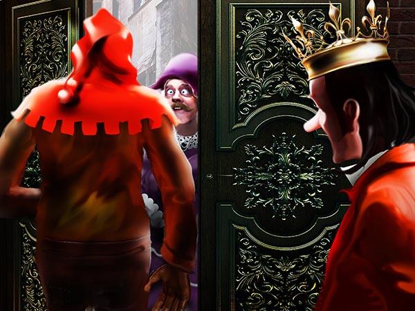 Премьер опять столкнулся в дверях с королевским палачом нос к носу и опять обомлел. И опять я дал ему штаны из своего гардероба, а вообще, не дело это.