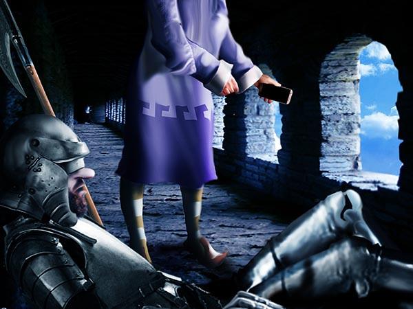 Ограничу-таки в королевстве интернет. Ночью группа легкомысленных пользовательниц зверски залайкала охранника замка.
