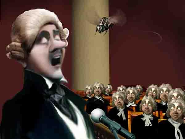 Королевская дума с утра обсуждала закон о свалках, но в рот задремавшего спикера влетела муха, и перешли к обсуждению регистрации дронов.