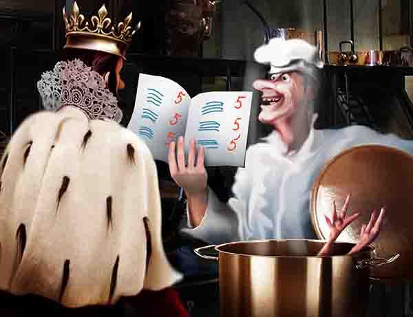 Родители жалуются на качество питания в школах. Позор! Велел в курятниках королевства обучать кур грамоте и бульоны для детей варить только из отличниц.