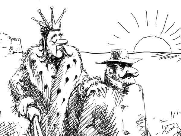 Чтобы уточнить экономические перспективы королевства, спрятал на груди своего лучшего шпиона микрофон, вывел его на рассвете в поле и послал на хер.