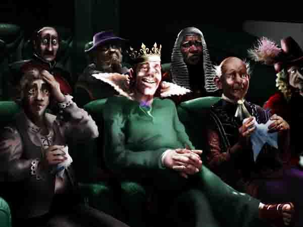 Ради спокойствия нации велел королевскому театру переделать водевиль про Гамлета. Типа все переженились, всё хорошо, и никто никого не травил.